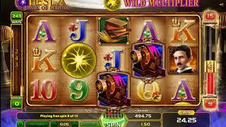Tesla Spark of Genius slots - 74 win!