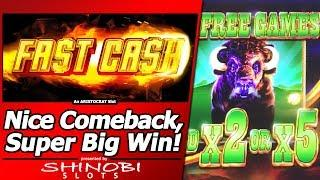 Fast Cash Slot - First Attempt, Nice Comeback and a Super Big Win!!