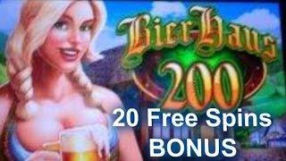 Bier Haus 200 slot machine - 20 Free Spins Bonus