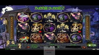 Bubble Bubble 2 by RTG new slot for Halloween dunover tries...