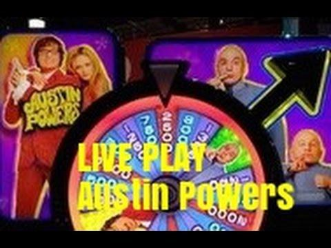 NEW-LIVE PLAY- AUSTIN POWERS SLOT MACHINE BONUSES