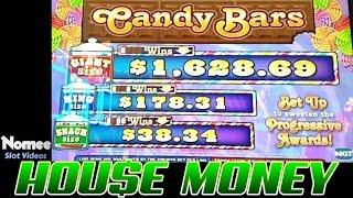 Candy Bars Slot Machine - Progressive Wins! - House Money