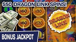 ⋆ Slots ⋆ Dragon Link Jackpot Handpay! ⋆ Slots ⋆ $50/SPIN Playing Peacock Princess Slots