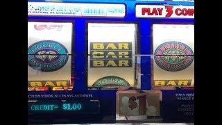 Slot Big Win - Triple Double Diamond $1 Slot Machine - Max bet $3 - San Manuel casino