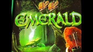•NEW ! BEAUTIFUL !!•WILD WILD EMERALD Slot (Aristocrat)•$175 Free Play Slot Live Play•彡栗スロ