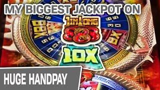 ⋆ Slots ⋆ My BIGGEST JIN LONG 888 JACKPOT EVER IN HISTORY! ⋆ Slots ⋆ $45 Spins In VEGAS PAY OFF!
