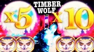 •WINNER!• TIMBER WOLF DELUXE slot machine WONDER 4 WONDER WHEEL BONUS WINS! (SUPER GAMES)