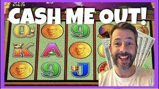 FIRST SPIN BONUS ON POMPEI • CASH ME OUT! •  5 SLOT MACHINES $20 EACH