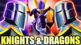•KNIGHTS & DRAGONS• BLACK KNIGHT DIAMOND & NEW DRAGON LINK Slot Machine Bonus