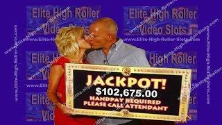 •$102,675 Dollar Win of $5 Slot Machine! Jackpot, Handpay Aristocrat, IGT WMS Blazing 7s, Buffalo •