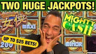 ⋆ Slots ⋆Two incredible JACKPOTS on High Limit Mighty Cash Nu Xia @ Atlantis Casino in Reno!!! ⋆ Slo