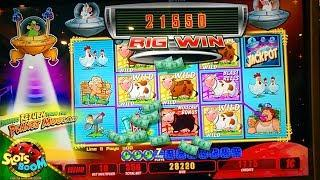BIG WIN on Invaders Return From Planet Moolah 1c Wms Slot in San Manuel Casino