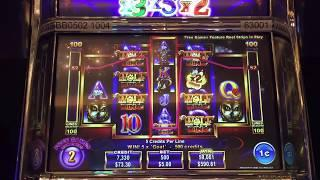 Ainsworth Wolf King Slot Machine Part 2 -- Max Bet Live Play -- BIG WIN!