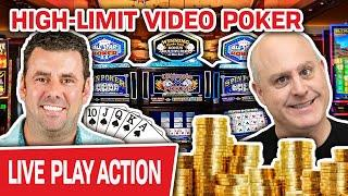 ★ Slots ★ BONUS: HIGH-LIMIT Video Poker LIVE ★ Slots ★ Kevin Joins Me for BIG Casino Spending