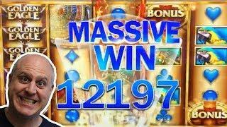MASSIVE WIN! •10 FREE GAMES JACKPOT •Golden Eagle Slots   The Big Jackpot