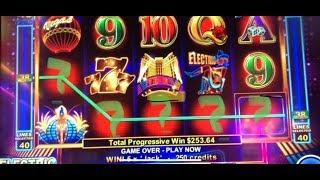 HOW MUCH 5 JACKS PAID ME??? ELECTRIC NIGHTS PROGRESSIVEs AND BIG WIN BONUSES!!!