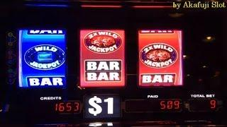 "BIG WIN Great Run Live High Limit ""Hit• Hit• Hit•"" WILD WILD Gems Slot Machine Max Bet $9 Harrah's"