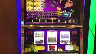 VGT Slots Mr Money Bags .50 $12.50 Per Spin Red Screen Winner. Choctaw Casino, Durant, OK.