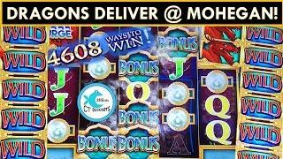 DRAGONS INVADE MOHEGAN SUN! *NEW* River Dragons Slot Machine & 5 DRAGONS DELUXE!