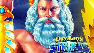 SHOW ME YOUR THUNDER ZEUS!! • OLYMPUS STRIKES Slot Machine (AGS)