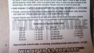 Instant Scratch-off Lottery Tickets - understanding the odds