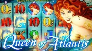 Queen of Atlantis BIG WIN BONUS + LIVE TOP HIT!!!  - 5c Aristocrat Video Slots