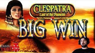 BIG WIN on Cleopatra: Last of the Pharaohs - Novomatic Slot - 1€ BET!