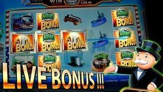 Live Bonus Super Monopoly Money 5c - Free Spins + Wheel - WMS Slots