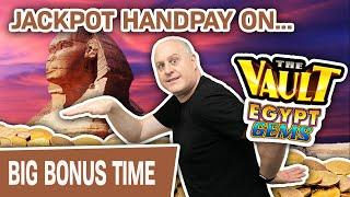 ⋆ Slots ⋆ JACKPOT HANDPAY Playing The Vault: Egypt Gems ⋆ Slots ⋆ THIS Is Why I LOVE LAS VEGAS