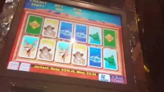 Going for Major Jackpot #8! *Max Bet*Outback Jack Bonuses and card features.Part 1