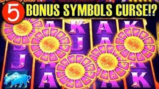 5-BONUS SYMBOLS CURSE!? | GOLD STACKS (Aristocrat) Slot Machine Bonus