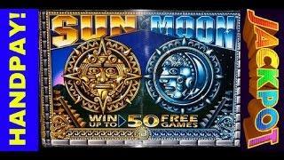 HANDPAY JACKPOT DOLLAR SUN AND MOON SLOT MACHINE WIN