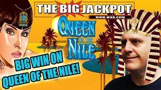 BIG WIN on • QUEEN OF THE NILE DELUXE • •️•️•️ Bonus MEGA WIN ON BLACK WIDOW •️