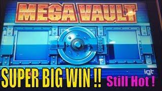 •SUPER BIG WIN•Unbelievable ! Still Hot! Mega Vault Slot / Max bet Live Play & $2.80 bet Bonus win•