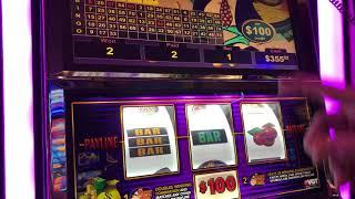VGT  $32,000.00 LIVE HANDPAY!  MR. MONEY BAGS $100 SPINS. CHOCTAW CASINO Red Screen Without A Cherry