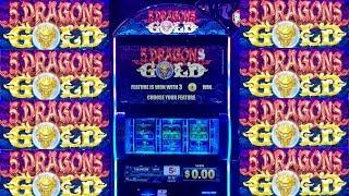 •G2E 2018• NEW 5 DRAGONS GOLD 3 Reels Slot Machine PREVIEW w/NG Slot | Global Gaming Expo 2018