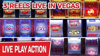 ⋆ Slots ⋆ OMG BACK LIVE IN VEGAS ⋆ Slots ⋆ ONLY High-Limit Slots, ONLY Three-Reel Machines