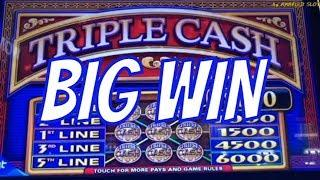 Jackpot Live Handpay & Big Win•Triple Cash 5 Lines & Black Diamond 9 Lines@Pechanga 赤富士スロット, カジノ