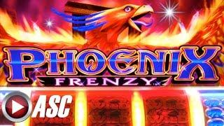 *BIG WIN!* PHOENIX FRENZY (Konami) 5-REEL MECHANICAL Slot Machine Bonus WILD WILD WILD!