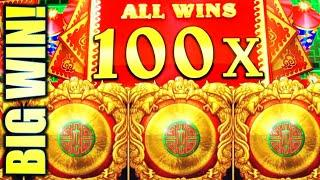 •100X MULTIPLIER!! BIG WIN!• DA JI DA LI SAPPHIRE WINS Slot Machine Bonus (AGS)