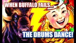 • BIG WINS • BUFFALO GOLD FAILS, DANCING DRUMS DELIVERS | SLOT MACHINES