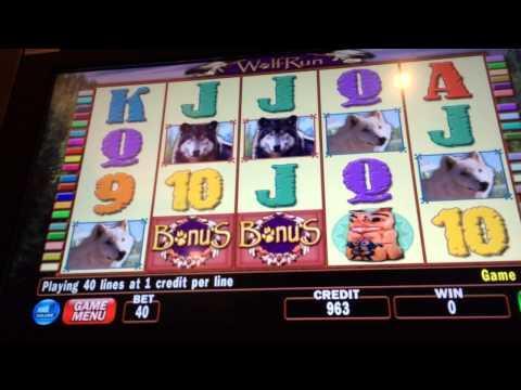 LIVE PLAY W BONUS Wolf Run high limit slots $40 BET