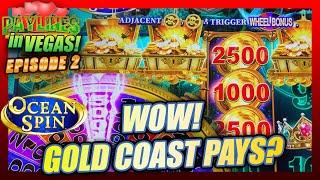 I WAS NOT EXPECTING THIS BIG WIN ON OCEAN SPIN ⋆ Slots ⋆ PAYLINES IN VEGAS EPISODE #102 GOLD COAST #LASVEGAS