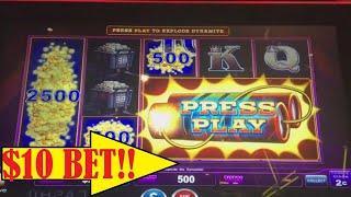 •$10 Bets • EUREKA BLAST SOME SLOT MACHINE BIG WINS!