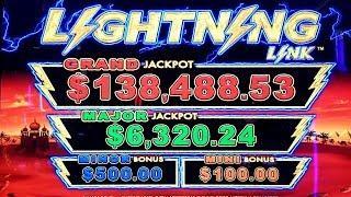 High Limit Lightning Link Sahara Gold Slot Machine Bonus | Lightning Link Bonus High Stakes