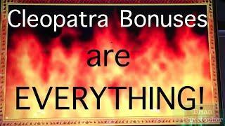 Winning BIG on Cleopatra 1 AND 2!
