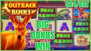 HIGH LIMIT MIGHTY CASH OUTBACK BUCKS $24 Max Bet Slot Machine ★ Slots ★️Thanks to our Australian Vie