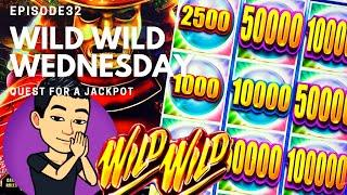 ⋆ Slots ⋆WILD WILD WEDNESDAY!⋆ Slots ⋆ QUEST FOR A JACKPOT [EP 32] ⋆ Slots ⋆ WILD WILD PEARL Slot Machine (Aristocrat)