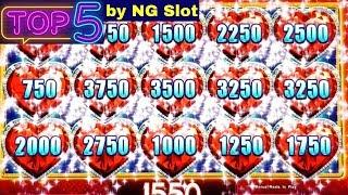 Top 5 JACKPOTS In 2018 By NG | High Limit Lock It Link | Dancing Drums| Lightning Link | Cleopatra 2