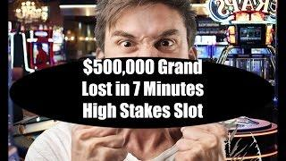 •$500 THOUSAND LOST IN 7 MINUTES Elite High Roller Video Slots Machine NO Jackpot Handpay Aristocrat